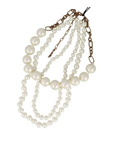 Twin-Set - Multi-threaded pearl necklace in white