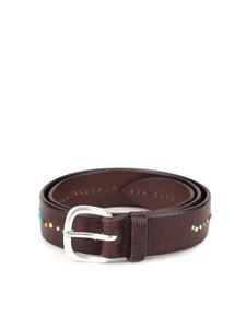 Orciani - Studded eather belt in brown