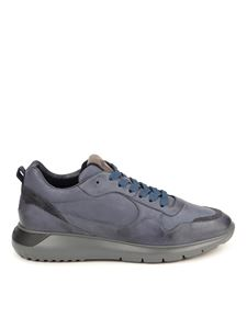 Hogan - Interactive³ leather sneakers in blue