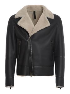 Tagliatore - Wilbur shearling jacket in black