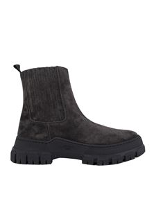 Max Mara Weekend - Genepi chelsea boots in anthracite color