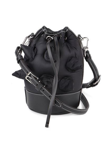 Moncler Genius - Pointed Clitter buckle bag in black