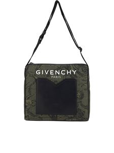 Givenchy - Printed nylon shoulder bag in green