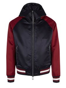 Emporio Armani - Logo jacket in blue and red