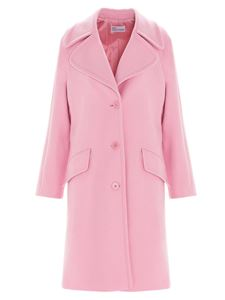 Red Valentino - Wool and cashmere coat in pink