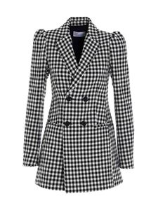 Red Valentino - Check coat in black and white