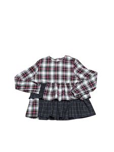 Il Gufo - Flounced tartan dress