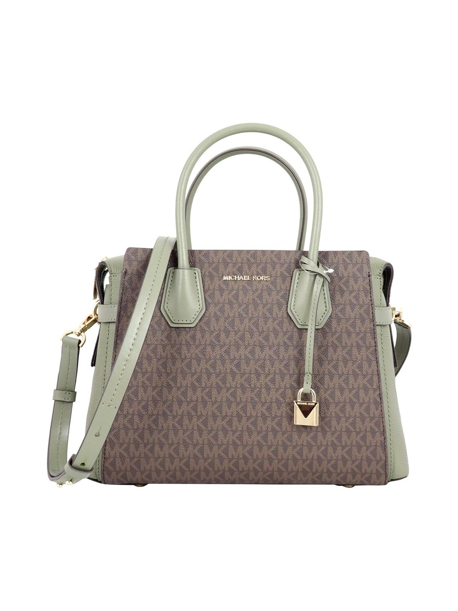 Michael Kors MERCER MEDIUM BOWLING BAG IN GREEN