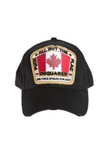 Dsquared2 - Maxi embroidery cap in black