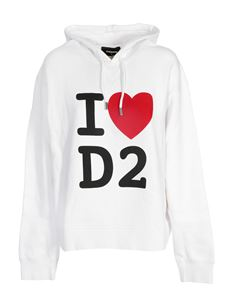 Dsquared2 - I love D2 hoodie in white