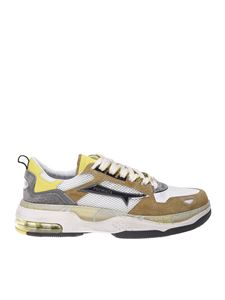 Premiata - Drake sneakers in white and brown