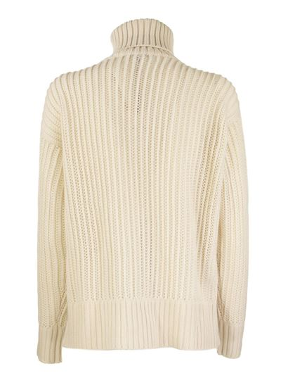 Agnona - Cashmere turtleneck sweater in white