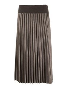 Agnona - Pleated skirt in brown