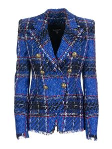 Balmain - Blazer in tweed blu