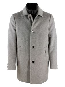 Moorer - Cashmere single-breasted coat in grey