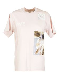Burberry - Shakespeare's quotes printed T-shirt in pink