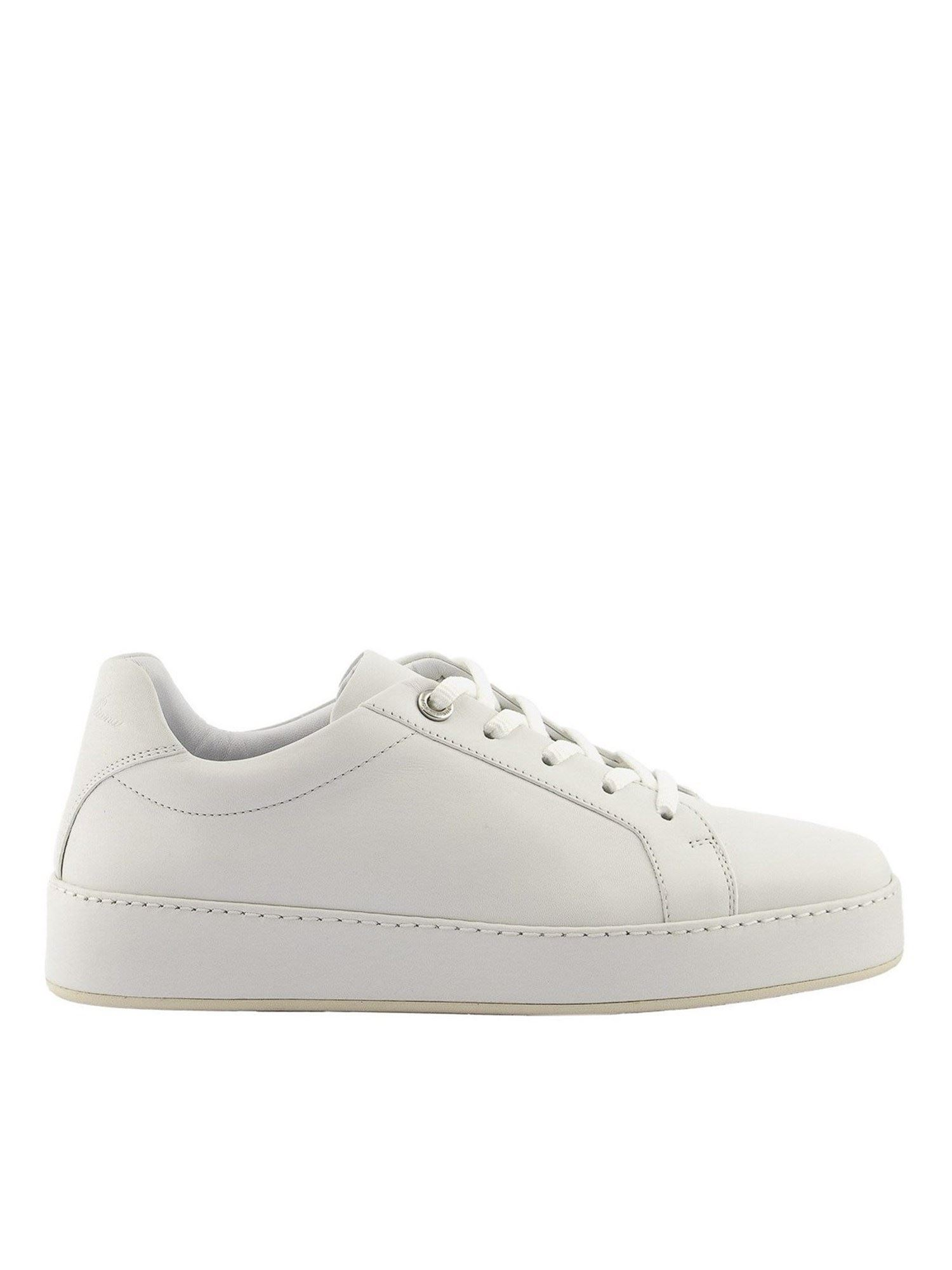 Loro Piana NUAGES CALFSKIN SNEAKERS IN WHITE