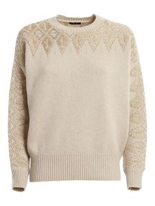 Peserico - Embellished sweater in beige