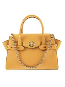 Michael Kors - Carmen saffiano leather tote in yellow