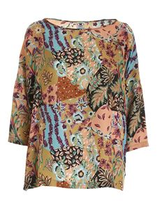 M Missoni - All-over multicolor pattern blouse