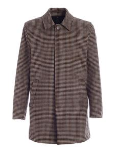 Fay - Checked pattern coat in beige