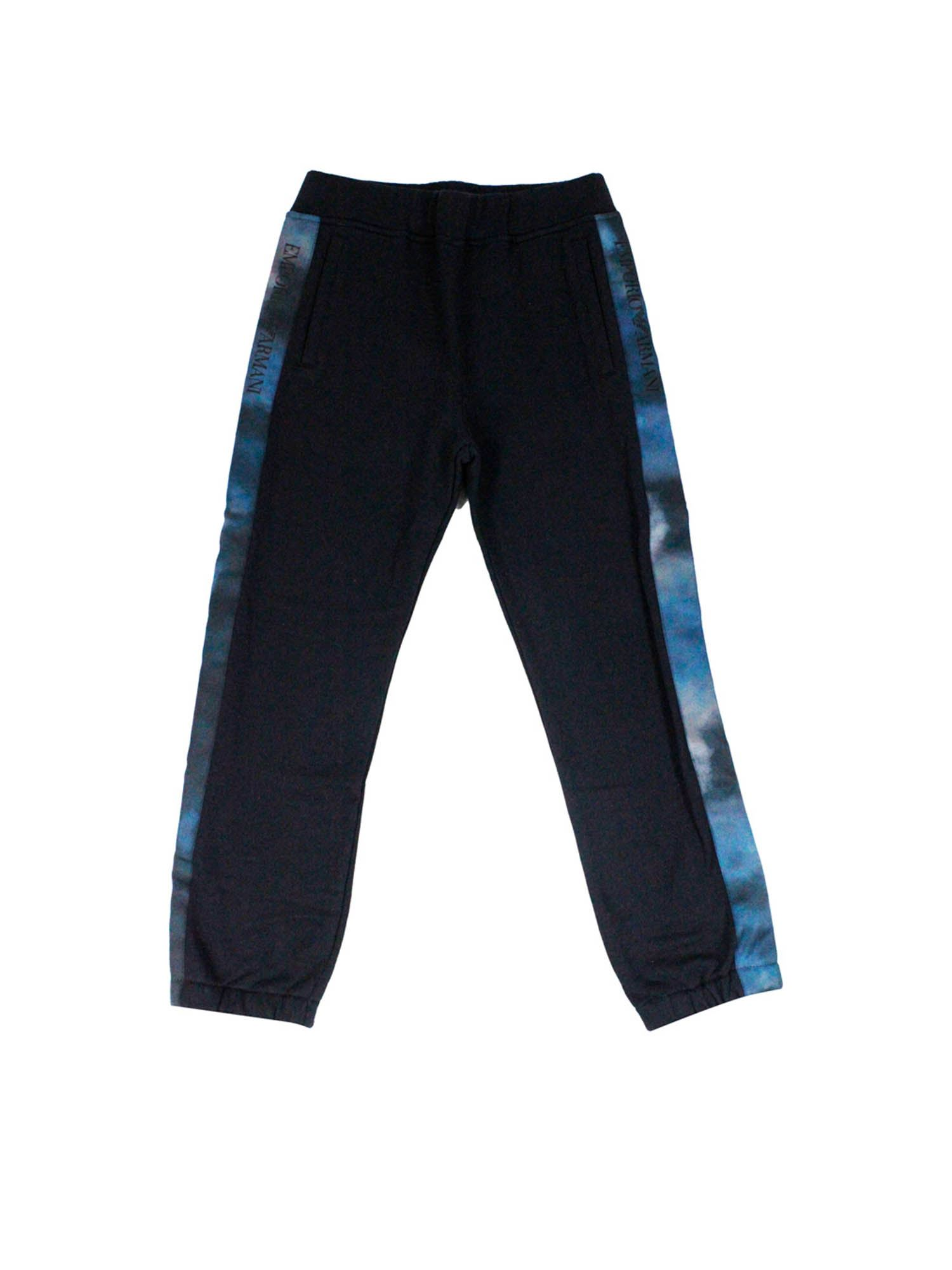 Emporio Armani SIDE BANDS PANTS IN BLUE