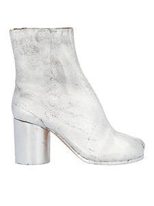 Maison Margiela - Tabi ankle boots in silver color