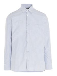 Golden Goose - Striped shirt in white and light blue