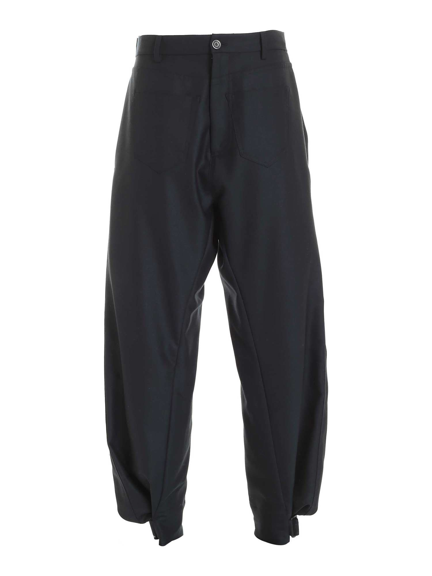 Vivienne Westwood BACK SLIT PANTS IN DARK GREEN