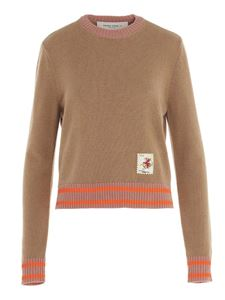 Golden Goose - Contrast piping wool sweater in beige