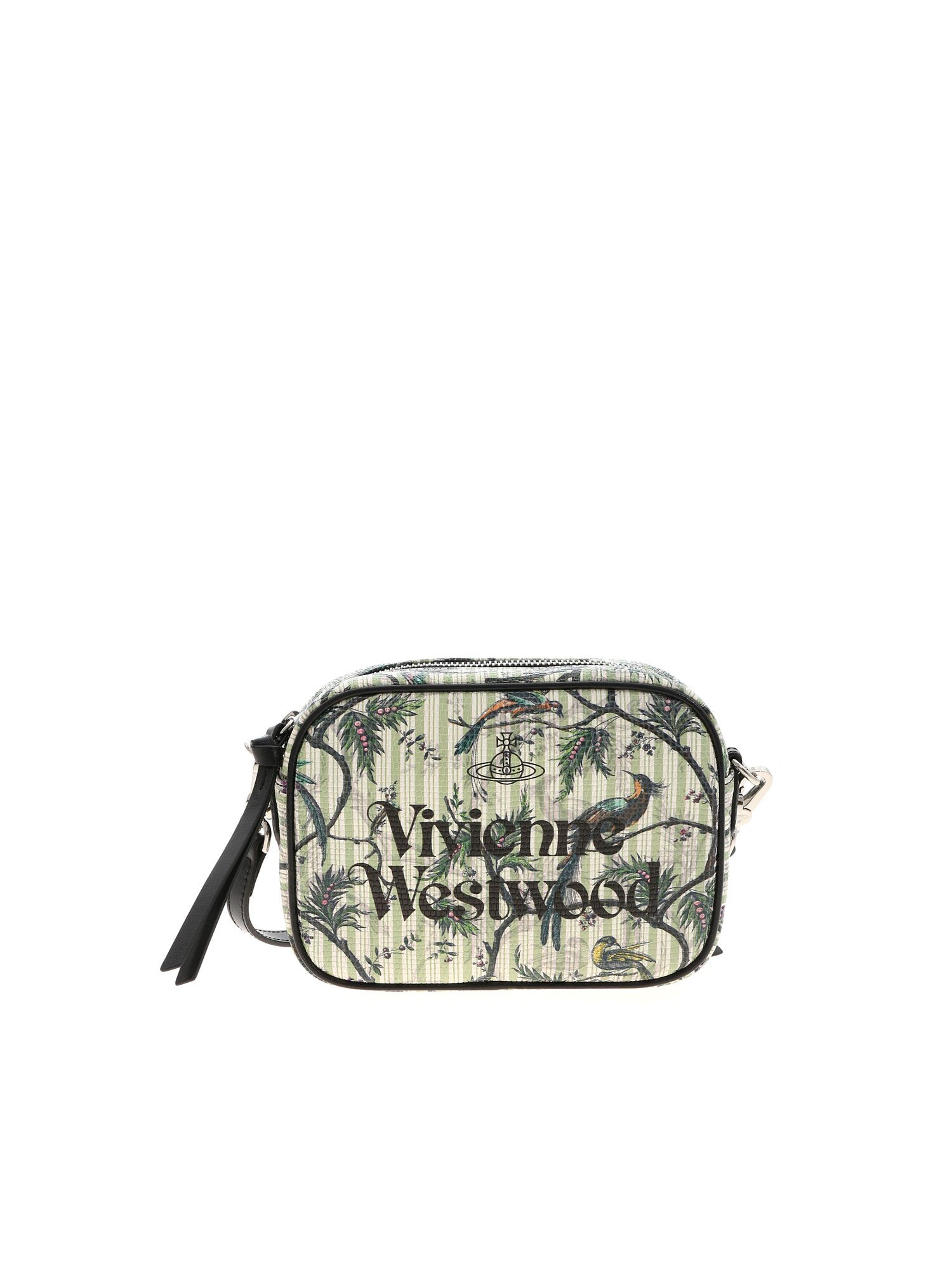 Vivienne Westwood Anna Camera Bag Bird Of Paradise Print In Green