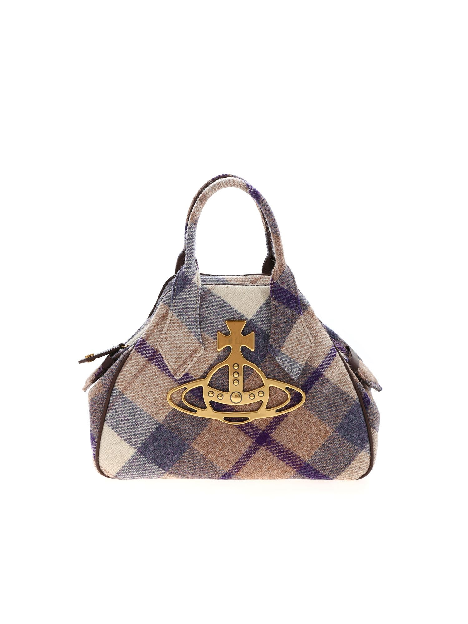 Vivienne Westwood HARRIS MEDIUM YASMINE BAG IN PURPLE