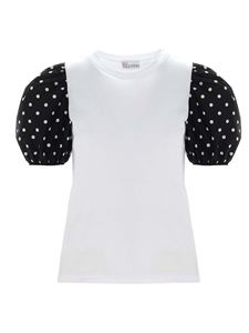Red Valentino - Puff-sleeved t-shirt in white