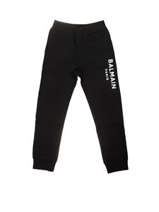 Balmain - Branded sweatpants in black