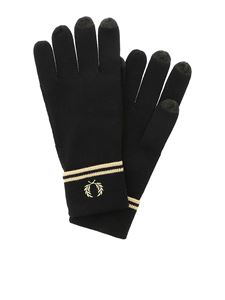 Fred Perry - Logo detail gloves in black