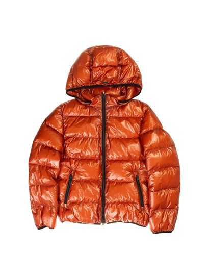 Herno - Quilted down jacket in orange