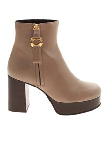 See by Chloé - Zipped ankle boots in light brown