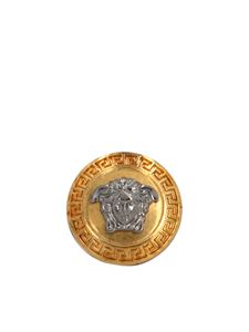 Versace - Medusa ring in silver and gold