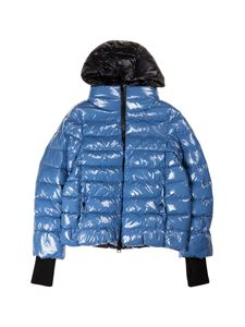 Herno - Hooded down jacket in black and blue