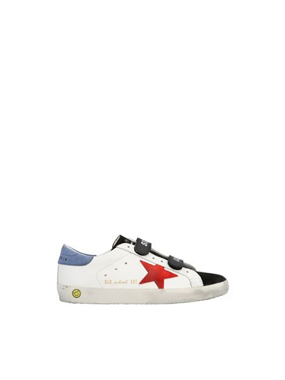 Golden Goose - Old school sneakers in white and black