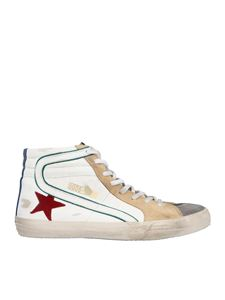 Golden Goose - Slide sneakers in white and grey