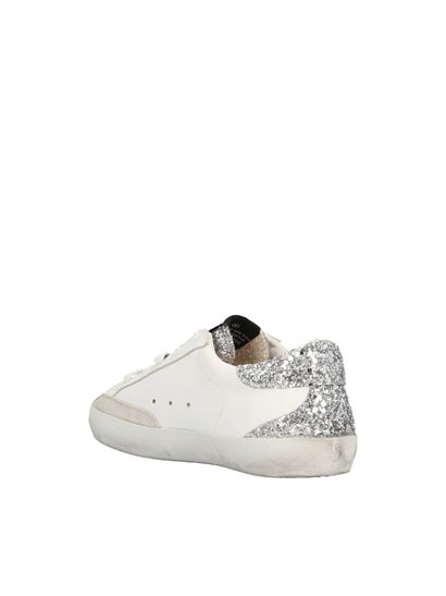 Golden Goose - Superstar sneakers in white and glitter
