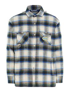 Golden Goose - Allen flannel shirt in green white and blue