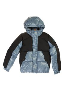 Save The Duck - Lumay puffer jacket in black and blue