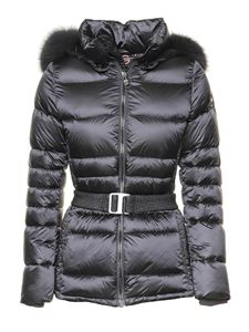 Colmar Originals - Quilted downjacket with faux fur in grey