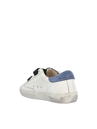 Golden Goose - Old school sneakers in white and blue