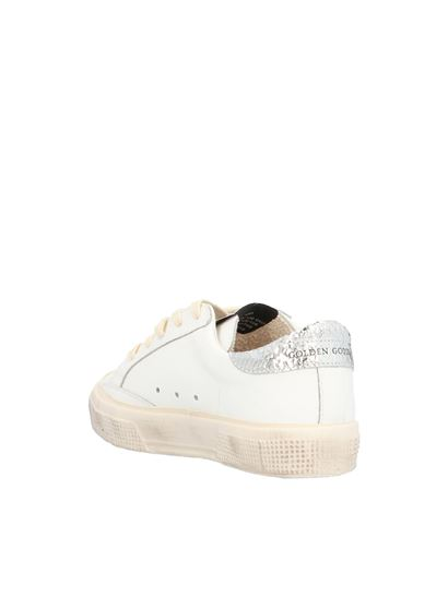 Golden Goose - May sneakers in white with fuchsia star