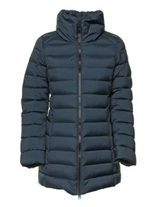 Colmar Originals - Quilted downjacket with high collar in blue