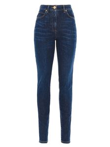 Versace - Medusa print jeans in blue