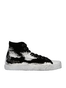 Maison Margiela - Tabi canvas sneakers in black